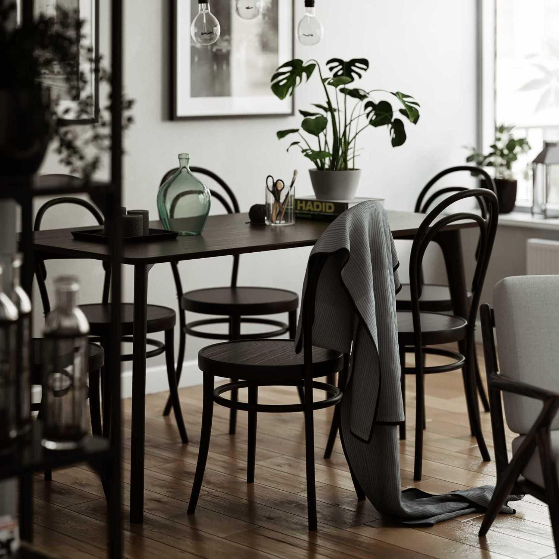 Foto inspirasi ide desain ruang makan skandinavia Cam-005-a oleh Wahyu Endra Pranata di Arsitag