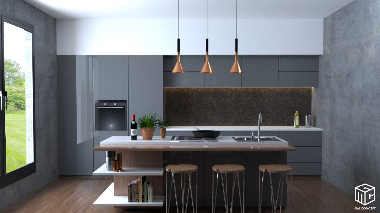 Gm Concept Modern Kitchen Canggu, Kuta Utara, Kabupaten Badung, Bali, Indonesia  Kitchen View Contemporary 46091