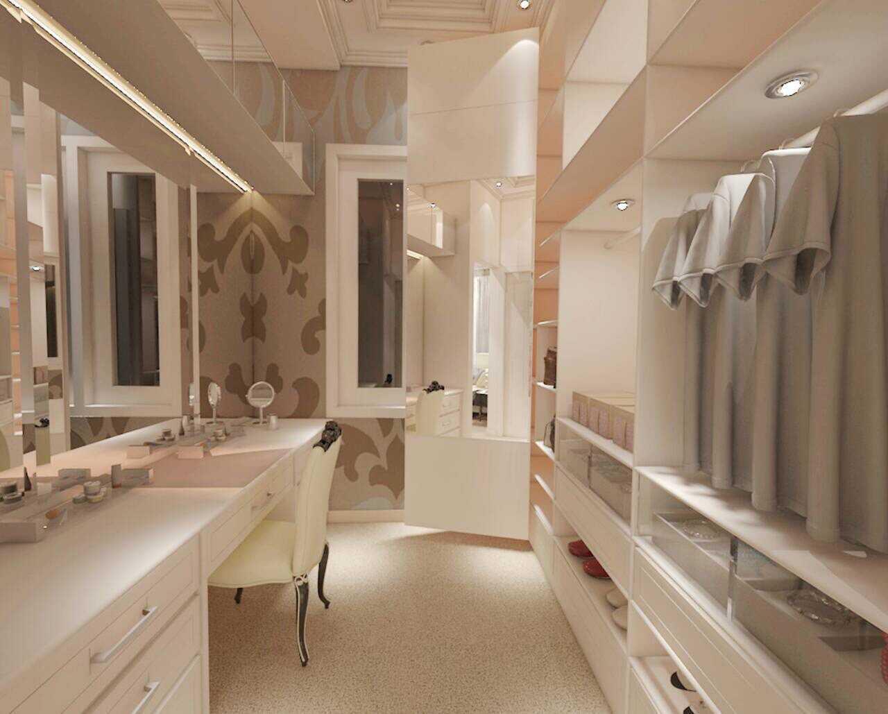 Foto inspirasi ide desain kamar tidur anak minimalis Wardrobe anak perempuan oleh Eart Architecture di Arsitag