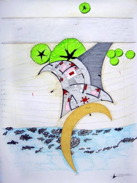 Evan Kriswandi An Artist's House Carita Beach Carita Beach Denah-Lantai-1  870