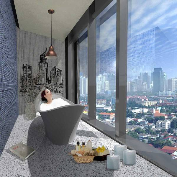Evan Kriswandi Bourgeois Bohemian Hotel Jakarta Jakarta Suite Bathroom  641