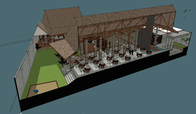 Gubah Ruang Studio B Restaurant Kabupaten Bangka, Kepulauan Bangka Belitung, Indonesia Kabupaten Bangka, Kepulauan Bangka Belitung, Indonesia Concept  50916