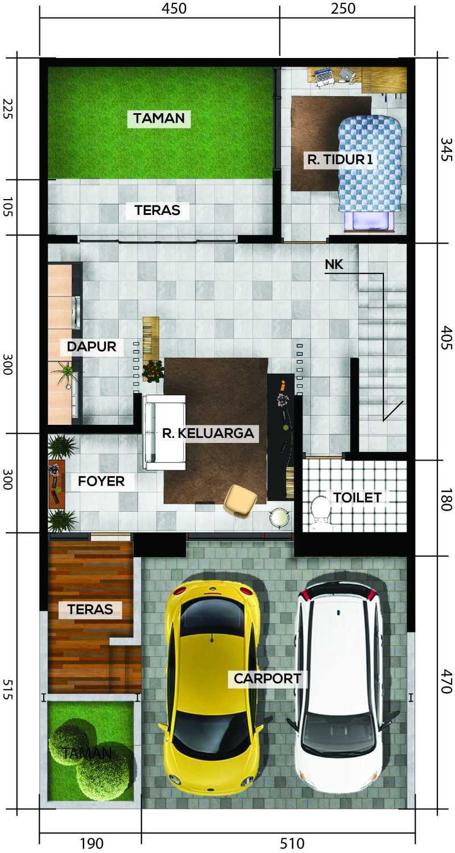 Gubah Ruang Drn Residence Palembang, Kota Palembang, Sumatera Selatan, Indonesia Palembang, Kota Palembang, Sumatera Selatan, Indonesia Floorplan 1St Floor Modern 50962