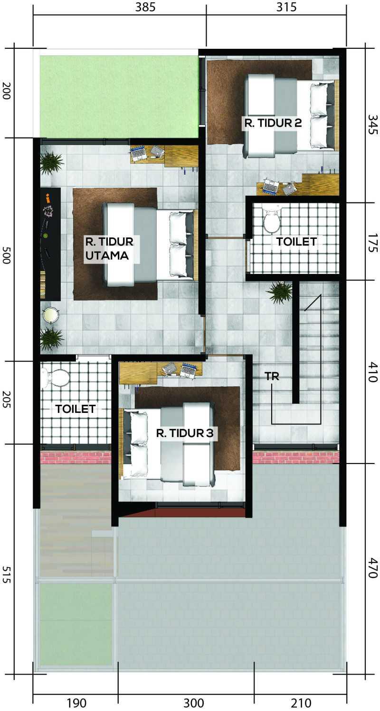 Gubah Ruang Drn Residence Palembang, Kota Palembang, Sumatera Selatan, Indonesia Palembang, Kota Palembang, Sumatera Selatan, Indonesia Floorplan 1St Floor Modern 50963
