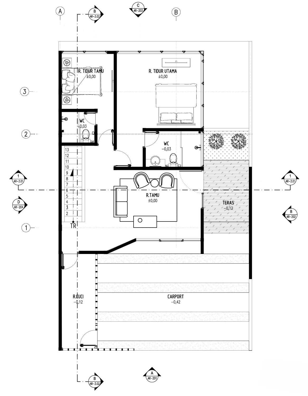 Gubah Ruang D-House Lembang, Kabupaten Bandung Barat, Jawa Barat, Indonesia Lembang, Kabupaten Bandung Barat, Jawa Barat, Indonesia Floorplan  50986