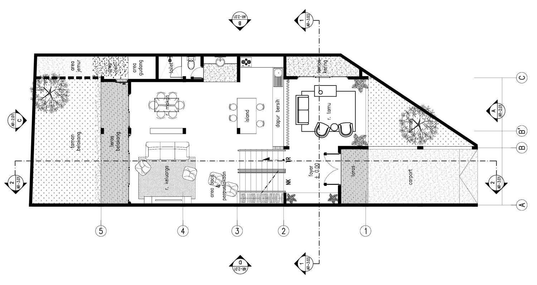Gubah Ruang Gk House Bandung, Kota Bandung, Jawa Barat, Indonesia Bandung, Kota Bandung, Jawa Barat, Indonesia Floorplan  51345