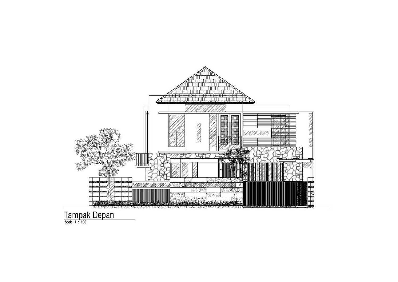Satuvista Architect Rumah Tropis Hook Kabupaten Jombang, Jawa Timur, Indonesia Jawa Timur, Indonesia Konsep Tampak Depan  48709