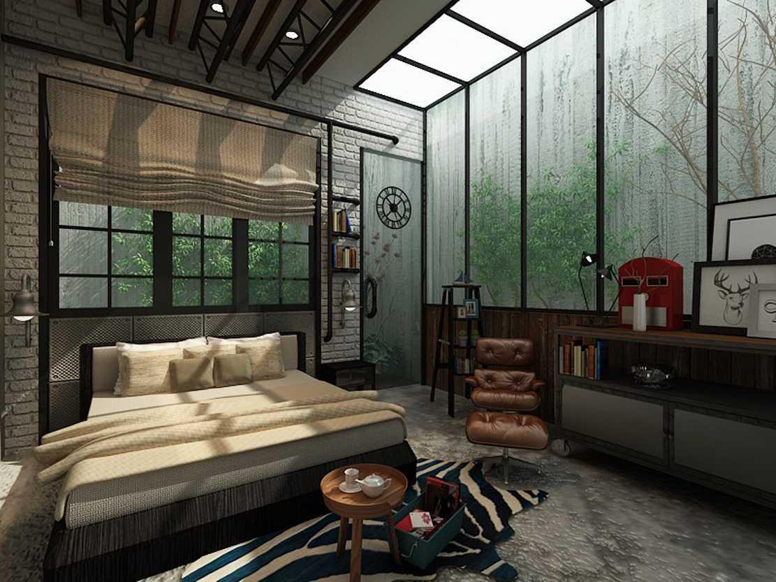 Foto inspirasi ide desain kamar tidur industrial Master bedroom oleh Lenny di Arsitag