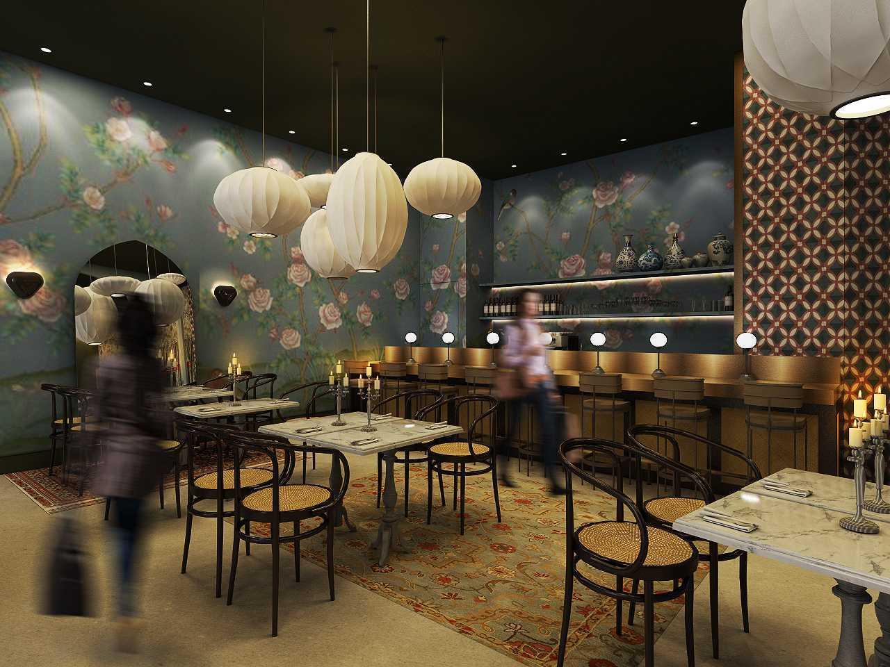 Studio Ig Interior Soematra Flower Cafe Kota Sby, Jawa Timur, Indonesia Kota Sby, Jawa Timur, Indonesia Seating Area Restaurant Contemporary 49629