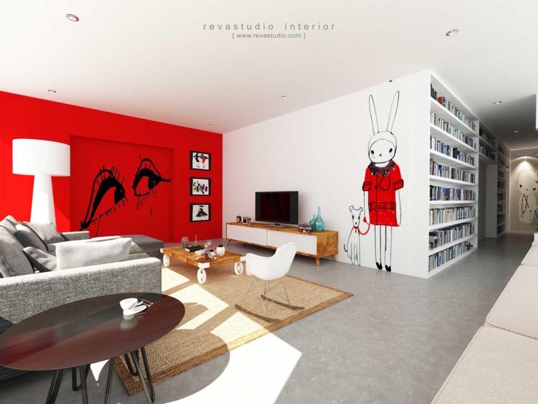 Revano Satria Red Lapin Apartment Jakarta, Indonesia Jakarta, Indonesia Livingroom-3  15543