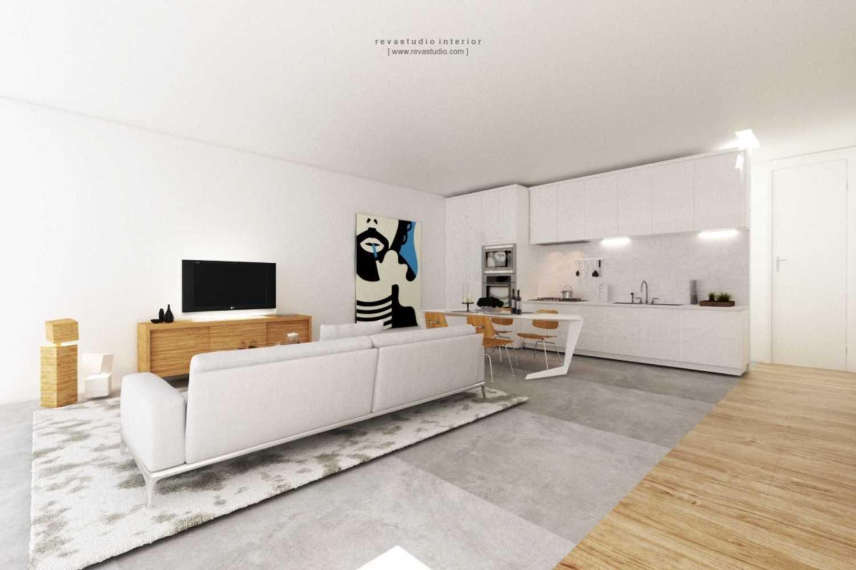 Foto inspirasi ide desain ruang keluarga Family room oleh Revano Satria di Arsitag