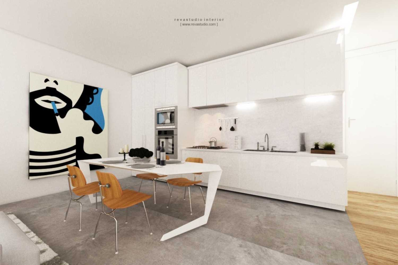 Foto inspirasi ide desain ruang makan Dining room oleh Revano Satria di Arsitag