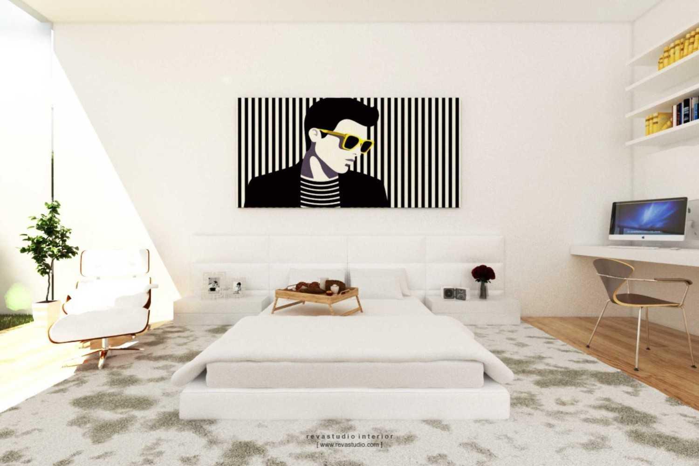 Foto inspirasi ide desain kamar tidur Bedroom oleh Revano Satria di Arsitag