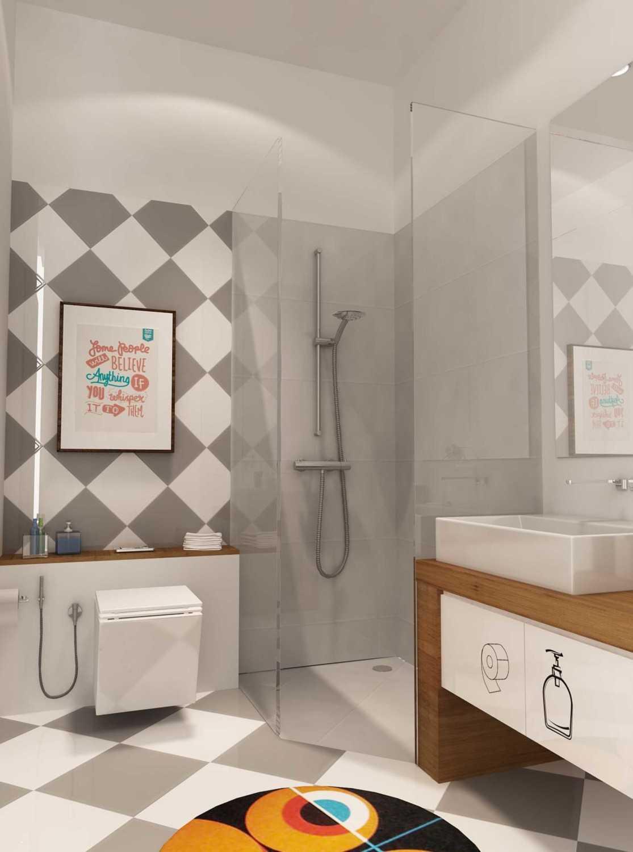 Foto inspirasi ide desain kamar mandi Bathroom-2-2 oleh Revano Satria di Arsitag