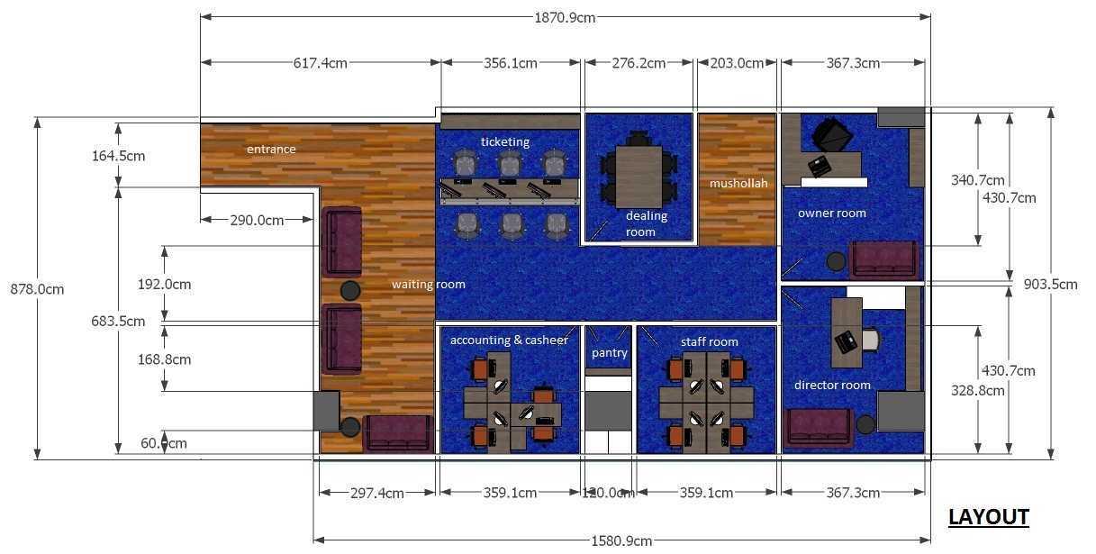 Ananda Ardiansyah Architect's Travel Office Makassar, Kota Makassar, Sulawesi Selatan, Indonesia Makassar, Kota Makassar, Sulawesi Selatan, Indonesia Floorplan  48780