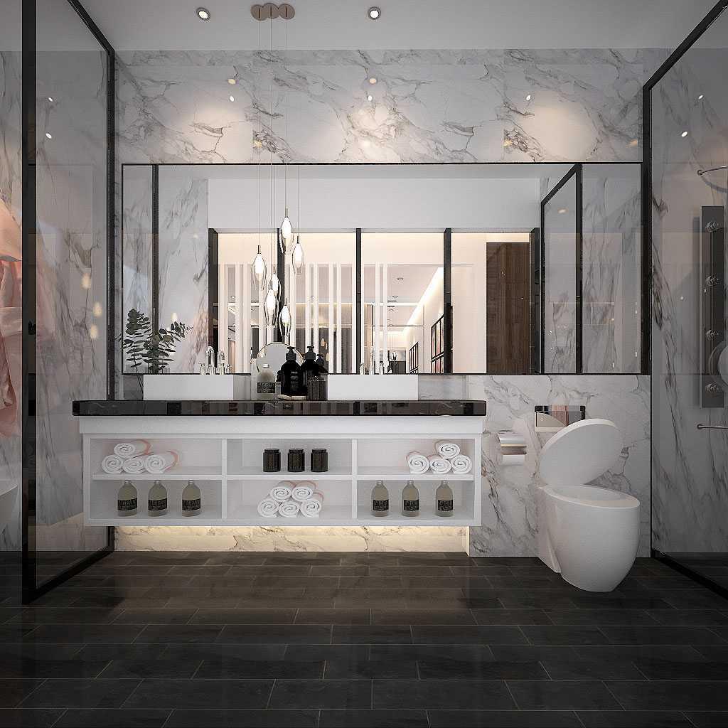 Kaye Interior Design Jakarta Garden City House Daerah Khusus Ibukota Jakarta, Indonesia Daerah Khusus Ibukota Jakarta, Indonesia Master Bathroom  48895