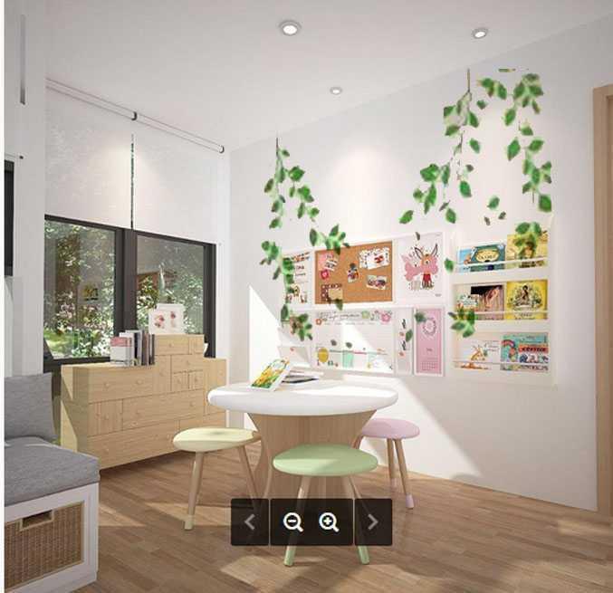Foto inspirasi ide desain ruang belajar tropis Study room oleh KY Interior Design di Arsitag