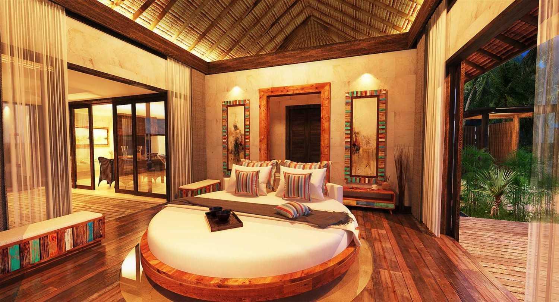 Foto inspirasi ide desain kamar tidur tropis Bedroom view oleh Made Dharmendra Architect di Arsitag
