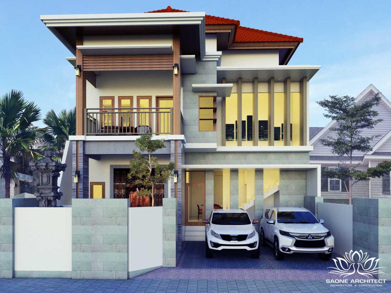 Saone Architect Rumah Tinggal Kota Denpasar, Bali, Indonesia Kota Denpasar, Bali, Indonesia Front View Rendering Modern 49722