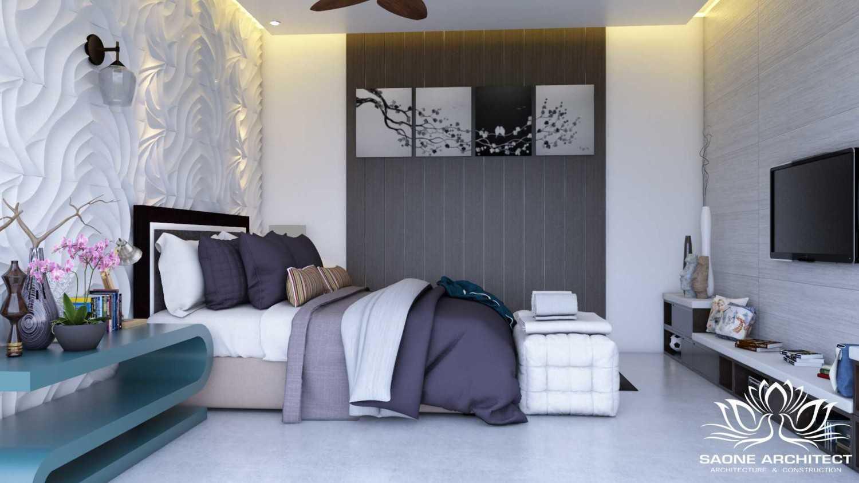 Foto inspirasi ide desain kamar tidur tropis Bedroom view oleh Saone Architect di Arsitag