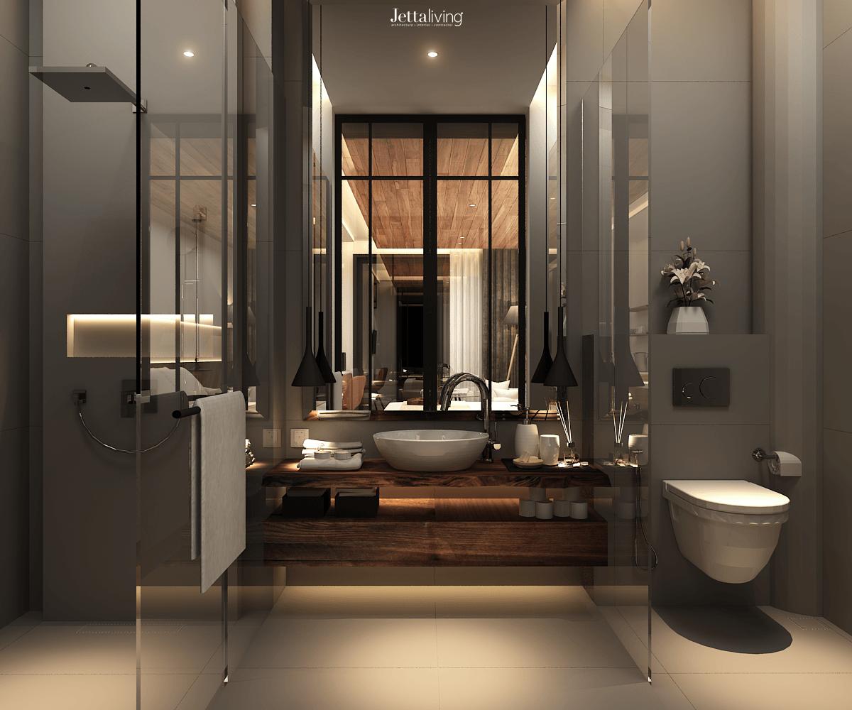 Foto inspirasi ide desain kamar mandi asian Bathroom oleh Jettaliving di Arsitag