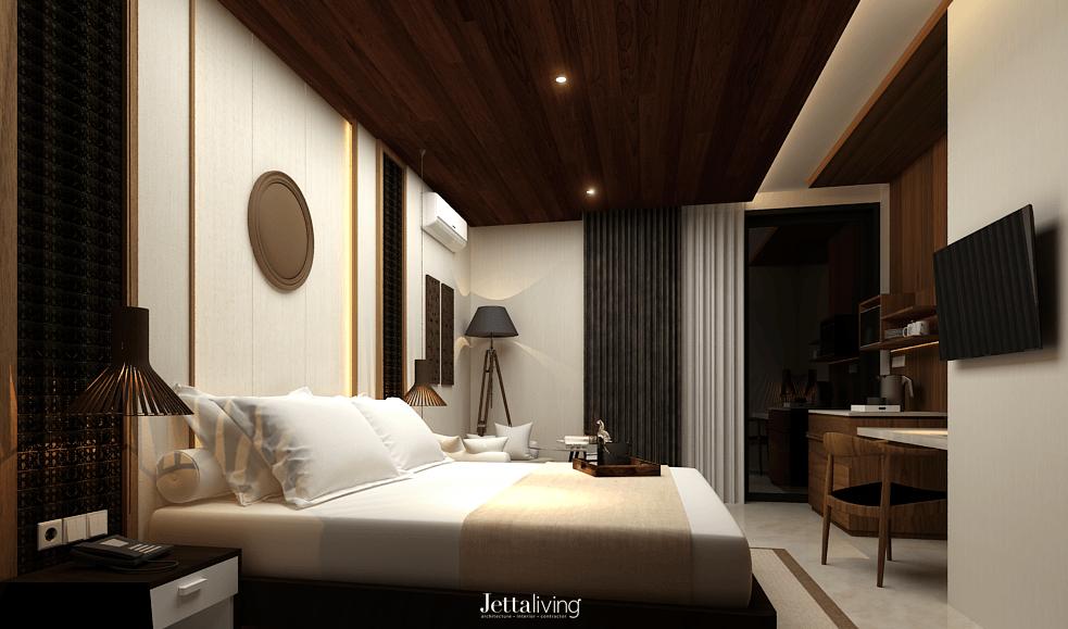 Foto inspirasi ide desain kamar tidur asian Bedroom view oleh Jettaliving di Arsitag