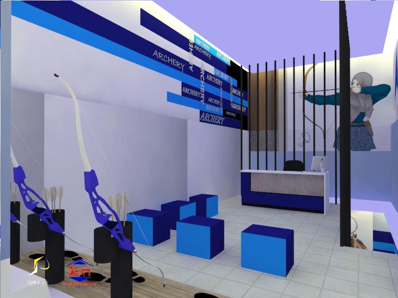 Foto inspirasi ide desain display area industrial Moch-restu-subagya-sars-arena-panah-indoor-alvo-archery oleh moch restu subagya S.Ars di Arsitag