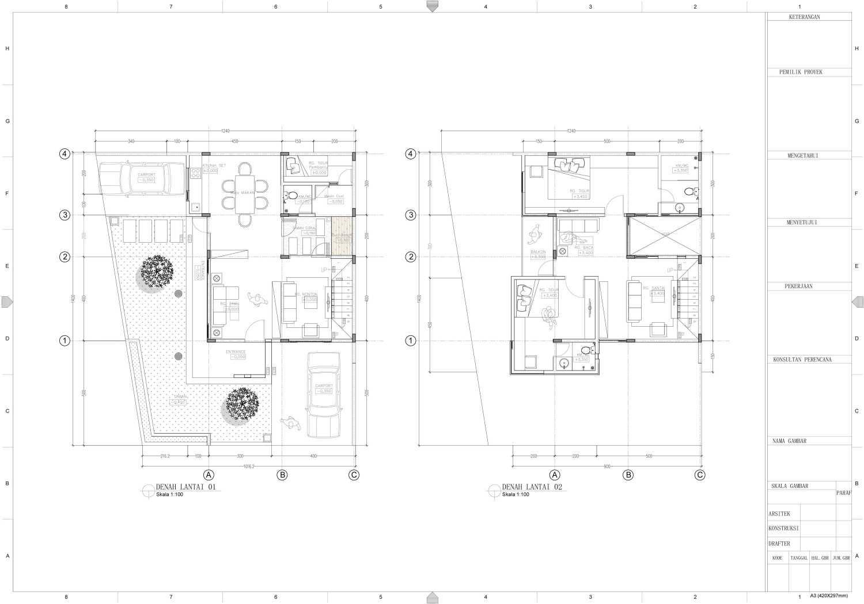 Nakama Architect Three Urban House Daerah Khusus Ibukota Jakarta, Indonesia Daerah Khusus Ibukota Jakarta, Indonesia Floorplan Modern 52130