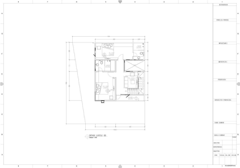 Nakama Architect Three Urban House Daerah Khusus Ibukota Jakarta, Indonesia Daerah Khusus Ibukota Jakarta, Indonesia Floorplan Modern 52131