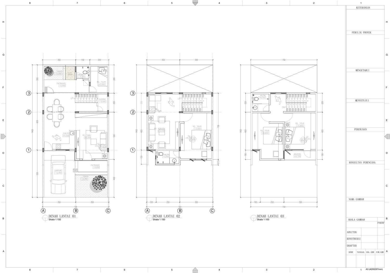 Nakama Architect Three Urban House Daerah Khusus Ibukota Jakarta, Indonesia Daerah Khusus Ibukota Jakarta, Indonesia Floorplan Modern 52133