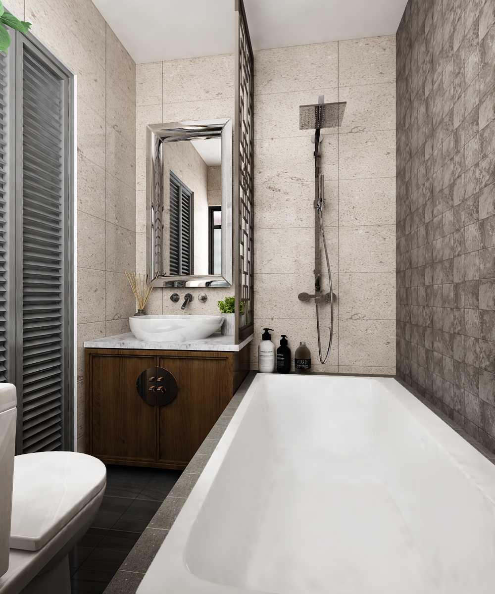 Foto inspirasi ide desain kamar mandi asian Moco-design-studio-c-apartment oleh Moco Design Studio di Arsitag