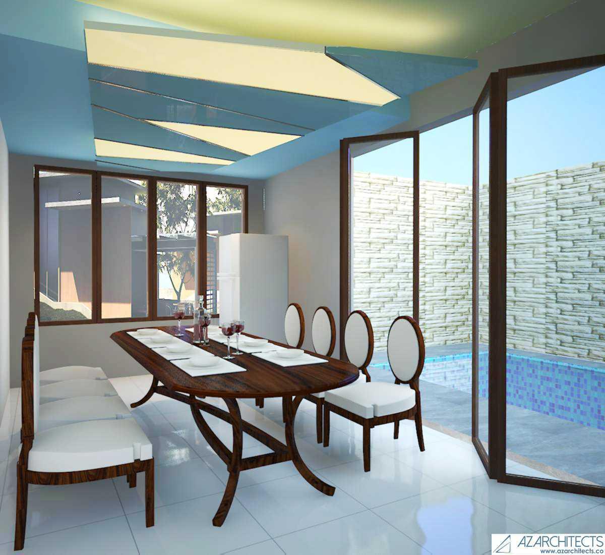 Az Architect Escape Villa Bogor, Jawa Barat, Indonesia Bogor, Jawa Barat, Indonesia Dining Room Scandinavian 53787
