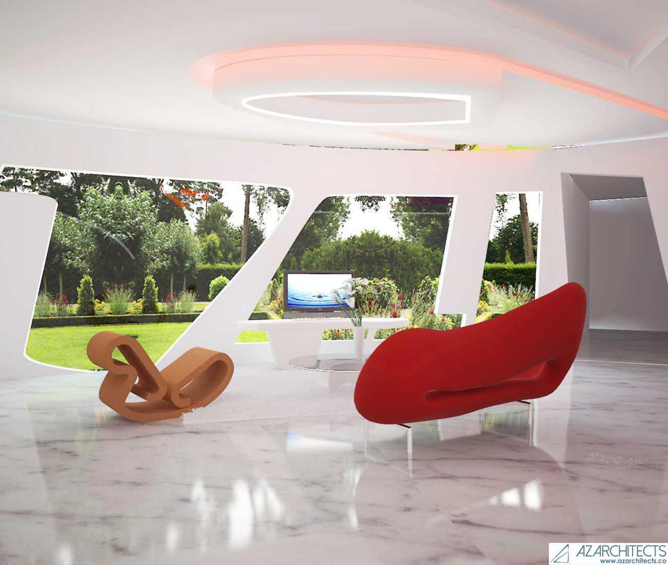 Az Architects Futuristic House Indonesia Indonesia Interior View  53806