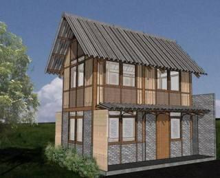 photo tampak-depan-rumah-tumbuh rumah kayu 07 at malang 8