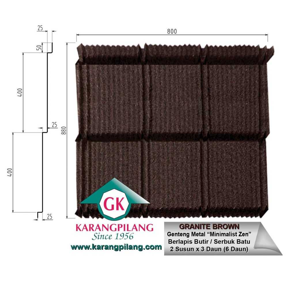 Variasi Coffee Brown  ConstructionRoofsSheets And Panels For Roofs 1