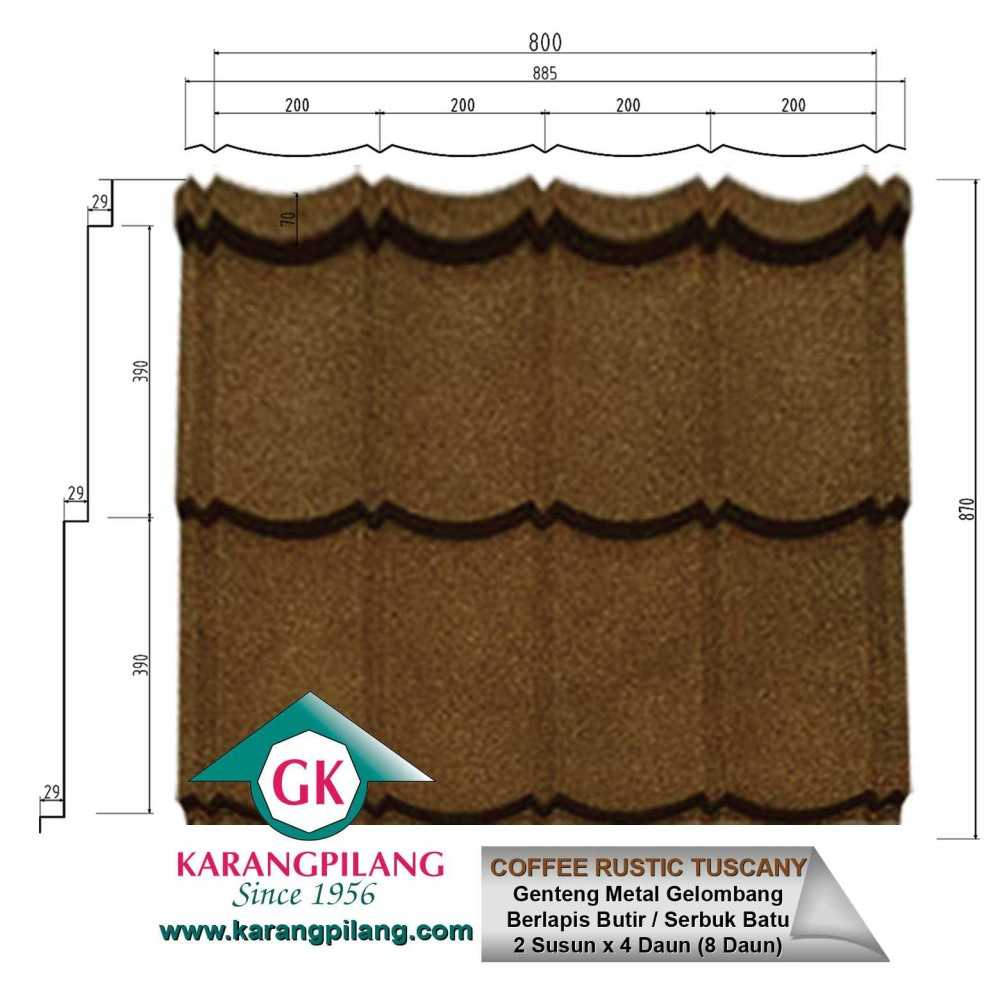 Variasi Coffee Brown  ConstructionRoofsSheets And Panels For Roofs 2