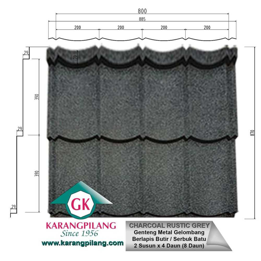 Variasi Emerald Rustic Green  ConstructionRoofsSheets And Panels For Roofs 1