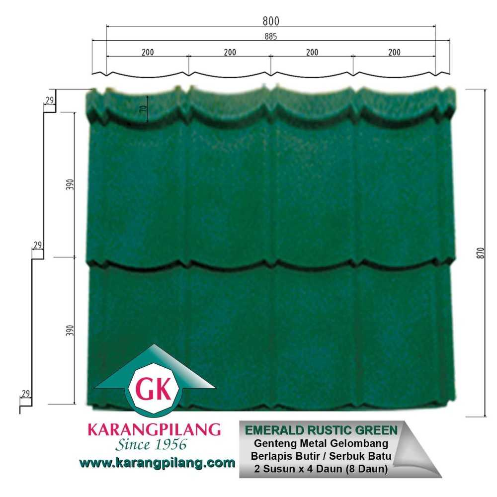 Variasi Emerald Rustic Green  ConstructionRoofsSheets And Panels For Roofs 4