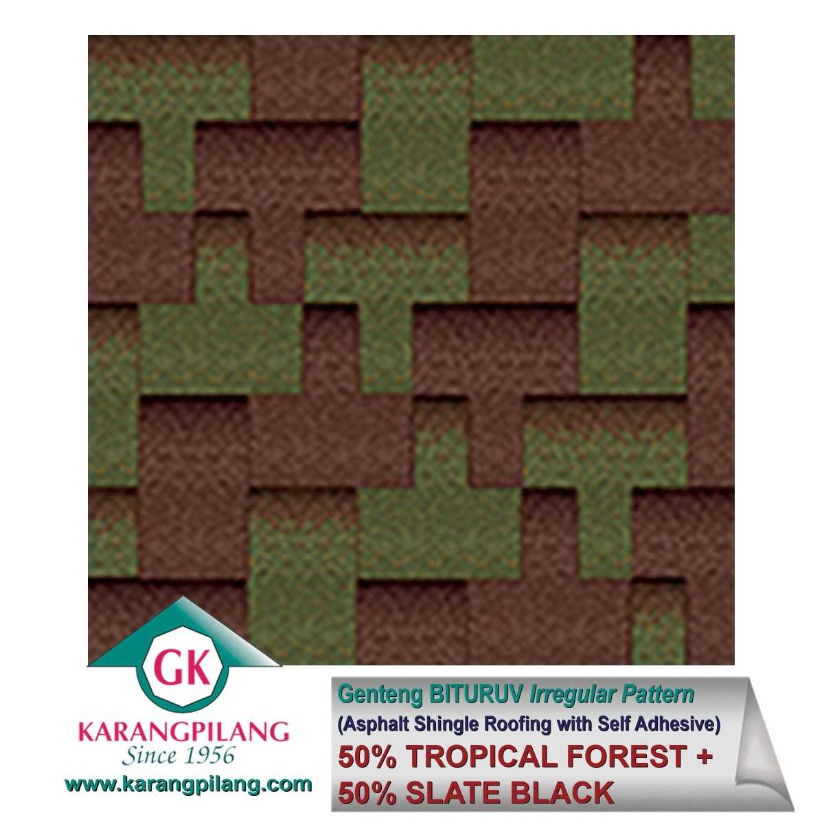 Variasi Tropical Forest (Irregular Pattern)  ConstructionRoofsSheets And Panels For Roofs 1