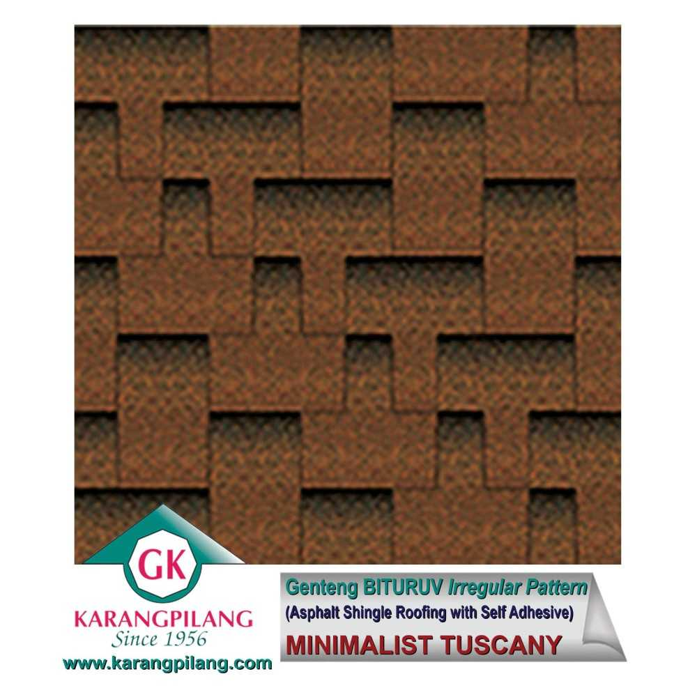 Variasi 50% Minimalist Brown + 50% Minimalist Tuscany (Irregular Pattern)  ConstructionRoofsSheets And Panels For Roofs 1