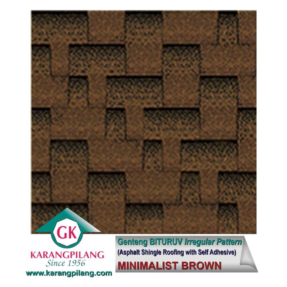 Variasi 50% Minimalist Brown + 50% Minimalist Tuscany (Irregular Pattern)  ConstructionRoofsSheets And Panels For Roofs 2