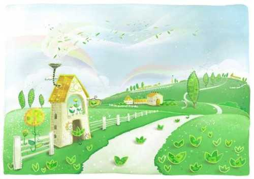 Foto produk  Wallpaper-Scenery Cartoon di Arsitag