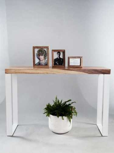 Girona Console Table Brown And White FurnitureTables And ChairsConsole Tables