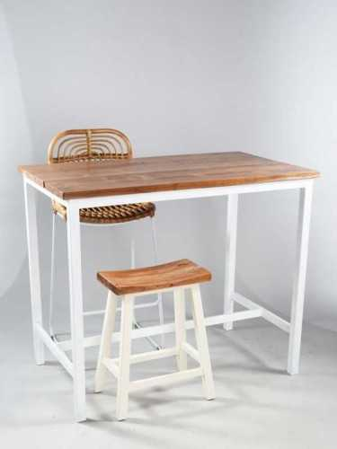 Girona High Dining Table Natural And White FurnitureTables And ChairsTables