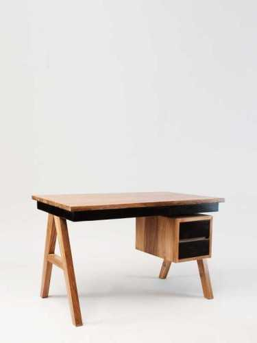 Foto produk  Helvig Working Desk Natural Dark Choco di Arsitag