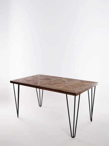Segovia Dining Table Brown Metal FurnitureTables And ChairsTables