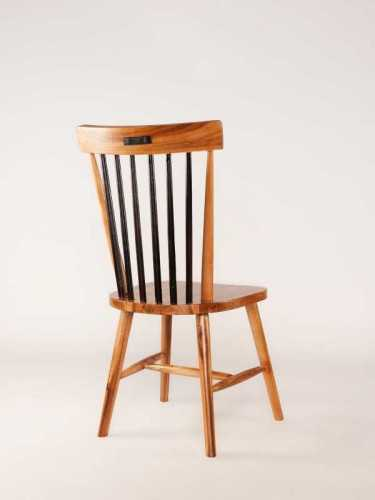 Bernardo Dining Chair Maple Brown Black FurnitureTables And ChairsChairs