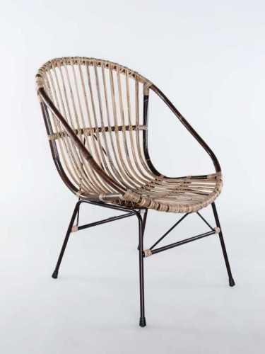 Kursi Lounge Cristobal Grey Brown FurnitureSofa And ArmchairsLounge Chairs