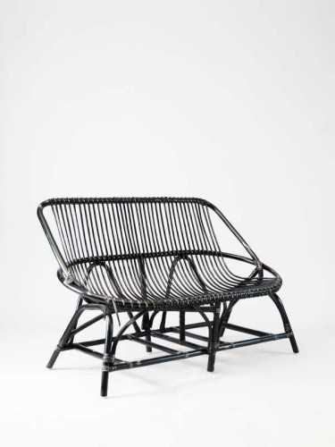 Esteban Two Seater Chair Black Black Distressed FurnitureTables And ChairsChairs
