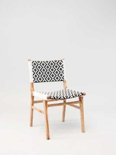 Gonzalo Dining Chair Natural Natural Black White FurnitureTables And ChairsChairs